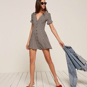Reformation Dolce dress in gingham